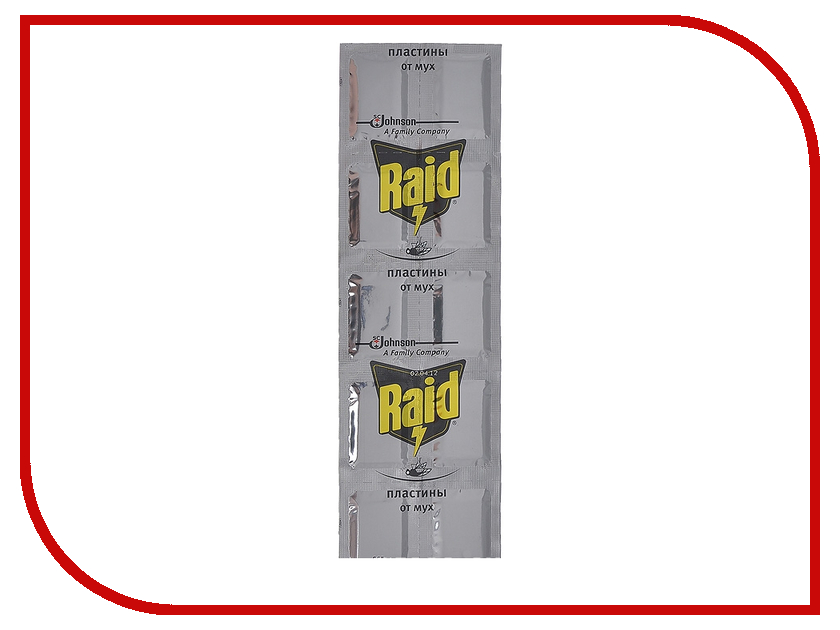 Средство защиты от мух SC Johnson Raid Пластины 10 штук