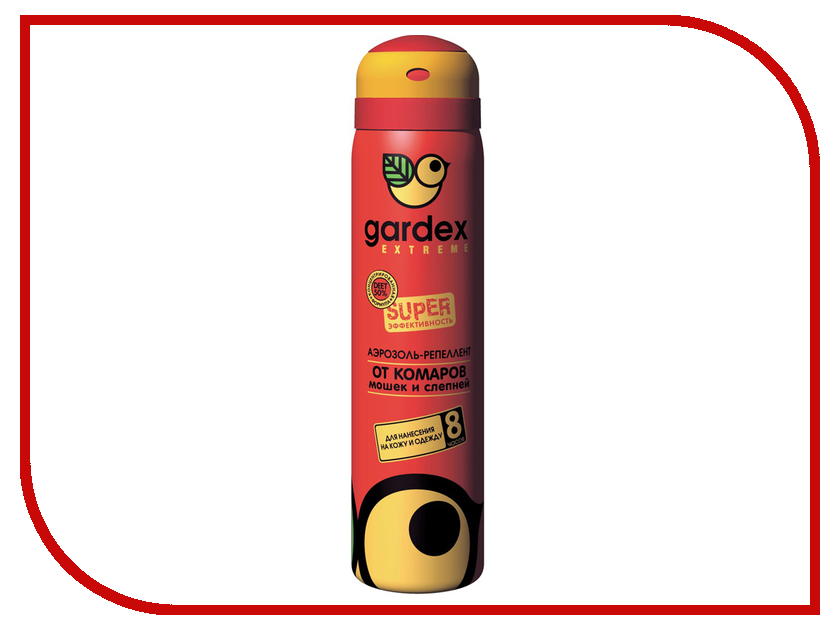 Средство защиты от комаров Gardex Extreme Super аэрозоль 80ml