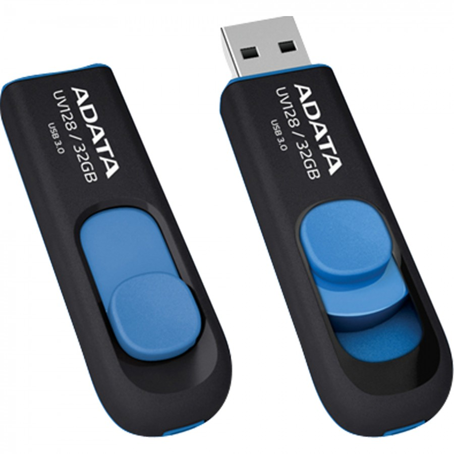 USB Flash Drive 32Gb - A-Data DashDrive UV128 3.0 Blue AUV128-32G-RBE
