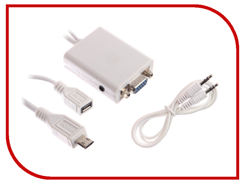 Аксессуар Espada MHL microUSB to VGA with Analog and Digital Audio SPDIF EMHL Mc USBM-VGA F аксессуар espada ipad iphone to vga hpadvga