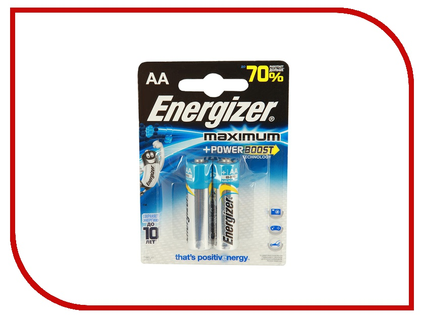 Батарейка AA - Energizer Maximum Alkaline LR06 (2 штуки)<br>