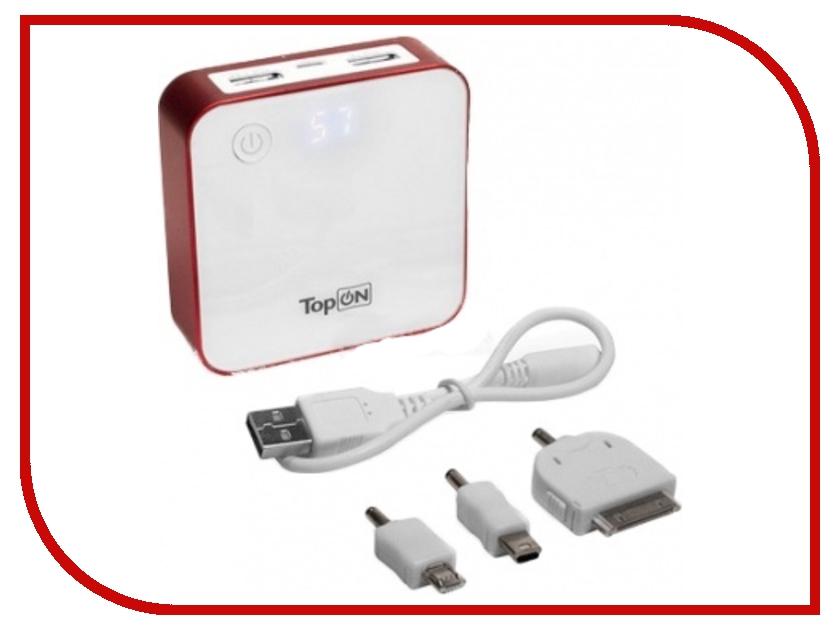 Аккумулятор TopON TOP-QUAD 7800 mAh универсальный Red<br>