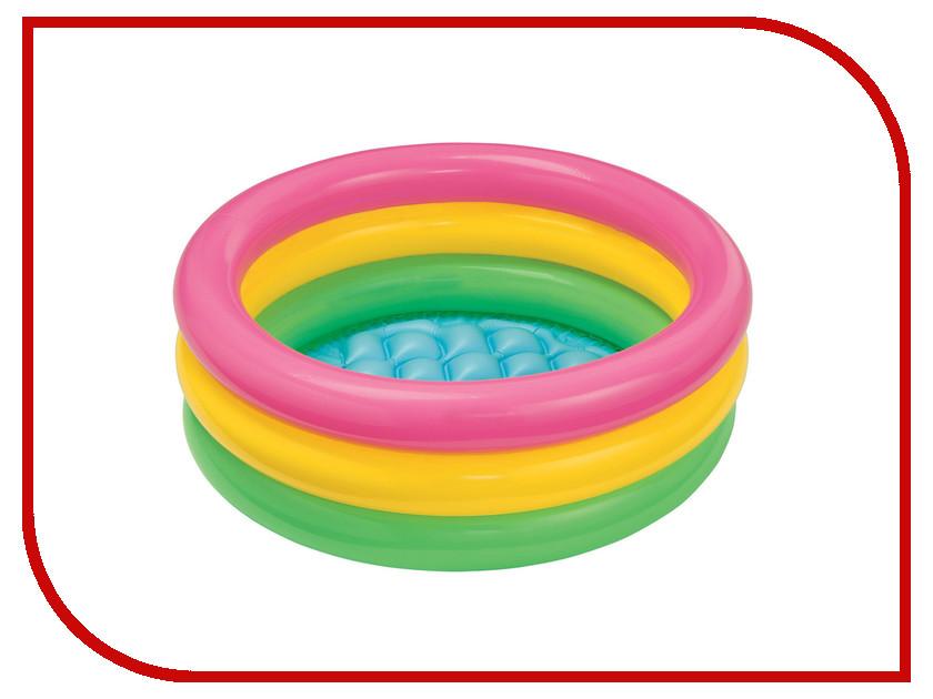 Детский бассейн Intex 58924 3 кольца кровать comfort plush 152х203х56см со встроенным насосом 220в intex 64418