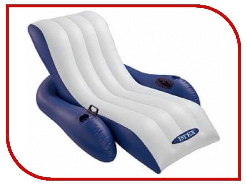Надувное кресло Intex 58868 кресло надувное intex собака цвет белый 65 х 64 х 74 см