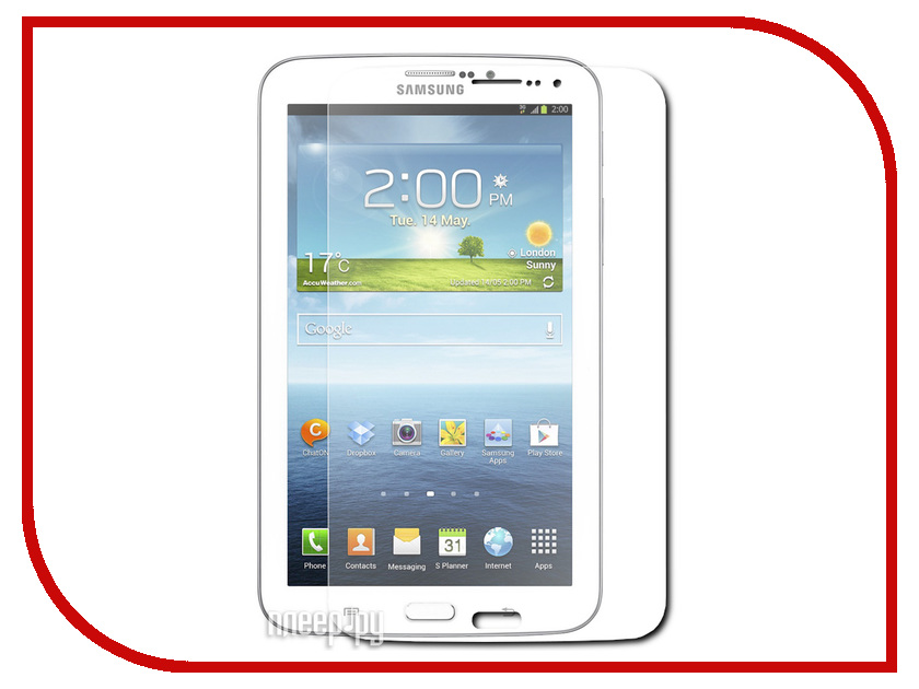 Аксессуар Защитная пленка Samsung Galaxy Tab 3 7.0 LuxCase суперпрозрачная 80590 защитная пленка luxcase для samsung galaxy tab 4 8 0 суперпрозрачная