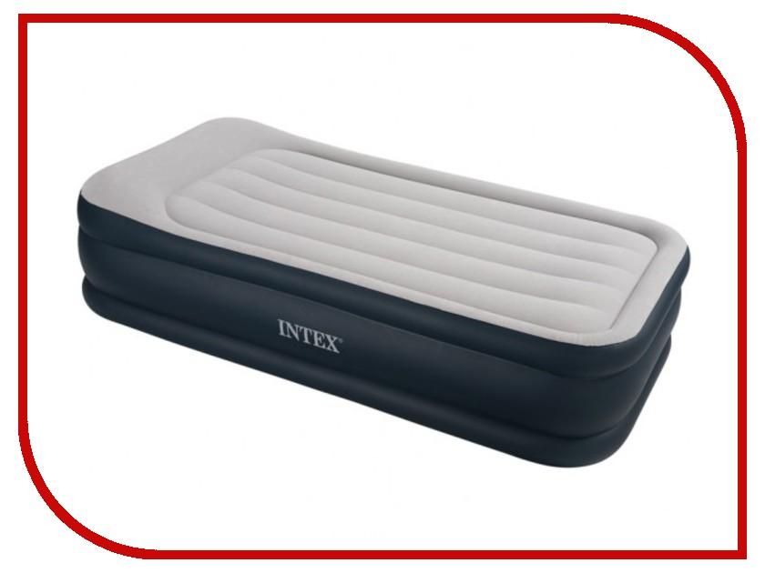 Надувной матрас Intex Deluxe Pillow Rest 99x191x43x48cm + насос 67732