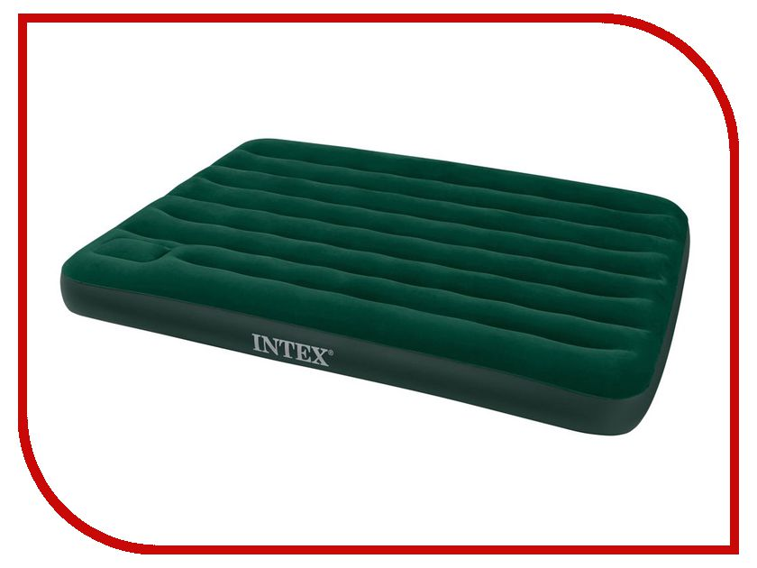 Надувной матрас Intex Full Downy Bed 137x191x22cm + насос 66928