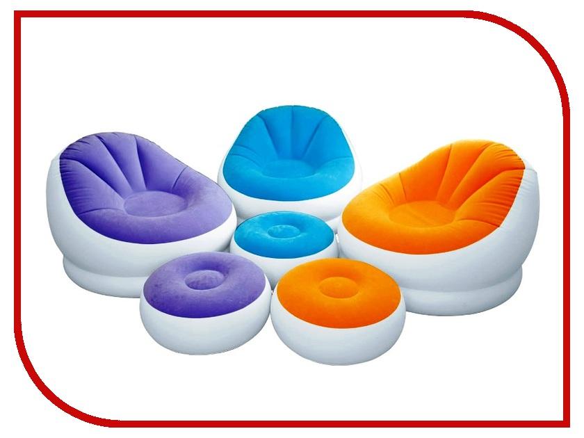 Надувное кресло Intex Cafe Chaise с пуфом 68572