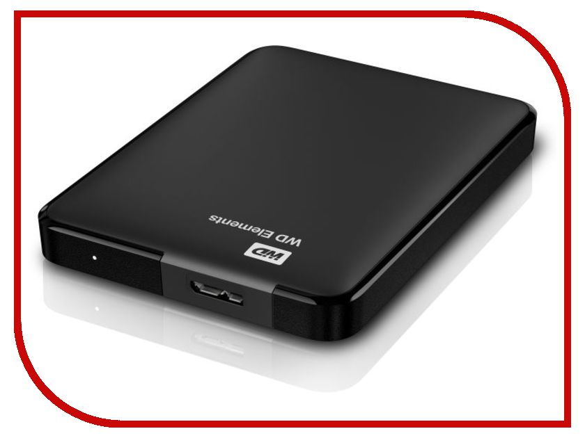 Фото Жесткий диск Western Digital Elements Portable 1Tb USB 3.0 WDBUZG0010BBK-EESN / WDBUZG0010BBK-WESN. Купить в РФ