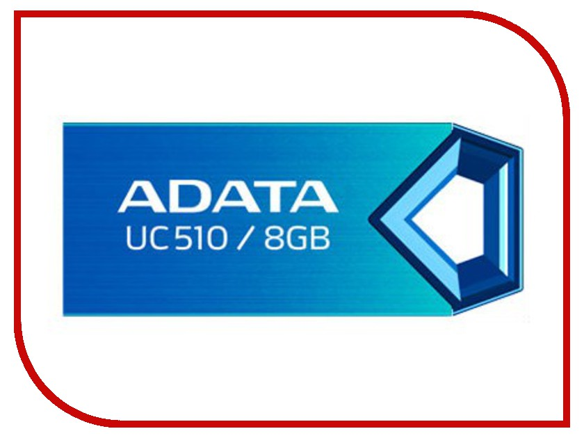 USB Flash Drive 8Gb - A-Data UC510 Metallic Blue AUC510-8G-RBL