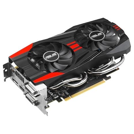 Видеокарта ASUS GeForce GTX 760 1006Mhz PCI-E 3.0 2048Mb 6008Mhz 256 bit 2xDVI HDMI HDCP GTX760-DC2OC-2GD5