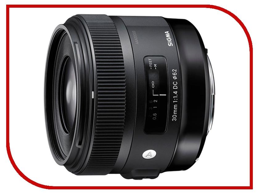 Объектив Sigma Canon AF 30 mm F/1.4 DC HSM ART объектив sigma sony e af 30 mm f 2 8 dn art for nex silver