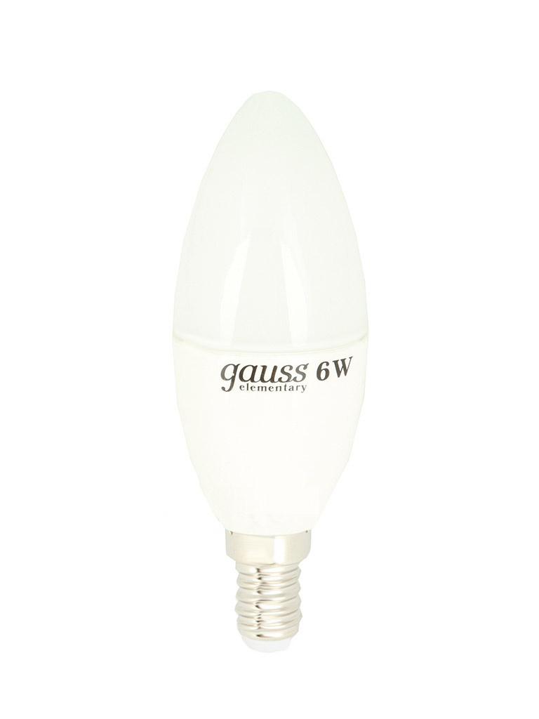 Лампочка Gauss Elementary E14 6W 220V 4100K 33126