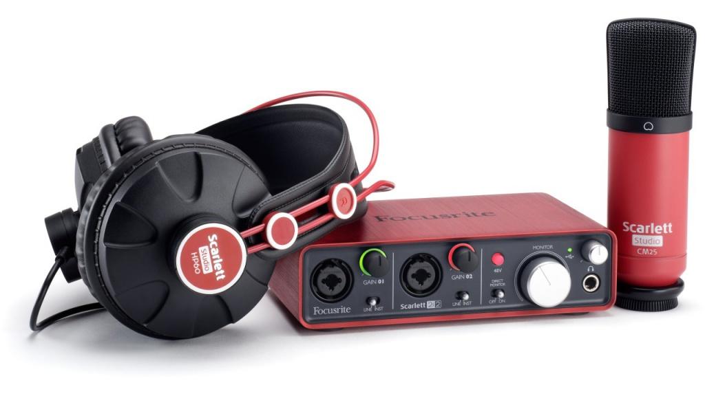 Комплект для звукозапсиси Focusrite Scarlett Studio от Pleer