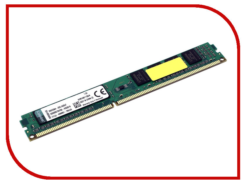 Модуль памяти Kingston DDR3 DIMM 1600MHz PC3-12800 - 4Gb KVR16N11S8/4 картридж hp cf210x