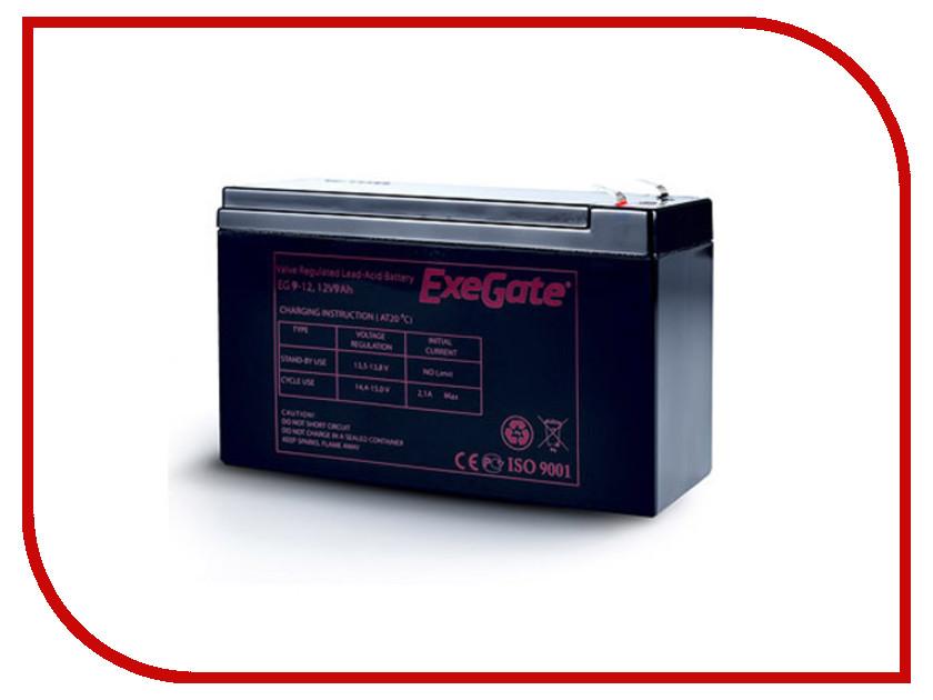 Аккумулятор для ИБП ExeGate 12V9AH F1 / EXG1290 crown cbt 12 9 2 аккумулятор для ибп
