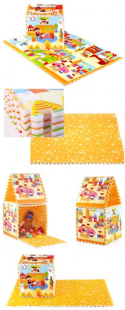 Развивающий коврик Mambobaby Пазл Семейный дом 70002<br>