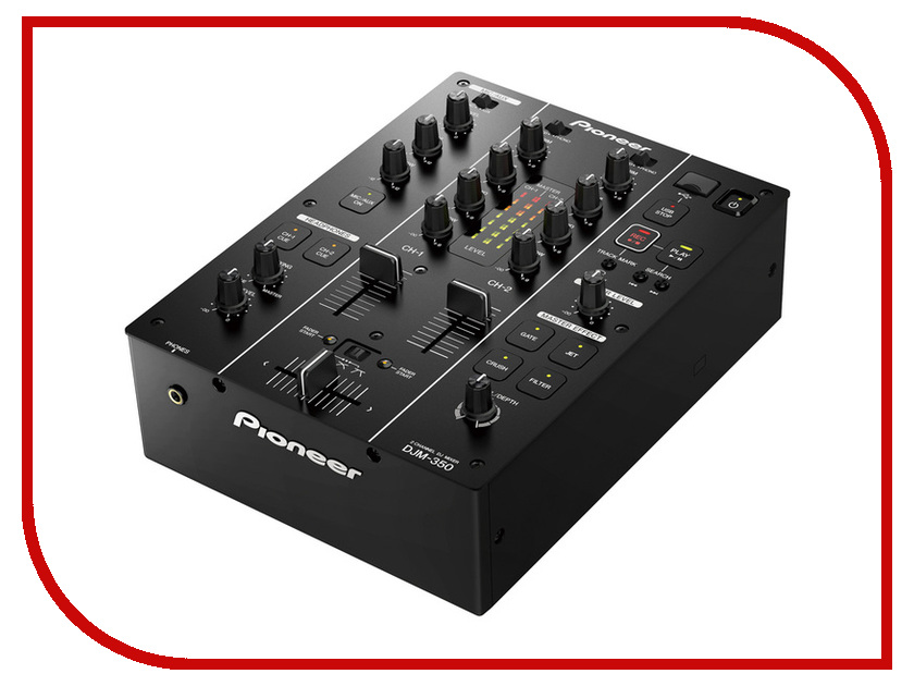 Пульт Pioneer DJM-350-K Black сабвуфер pioneer ts w106m 250вт 1100вт 4ом