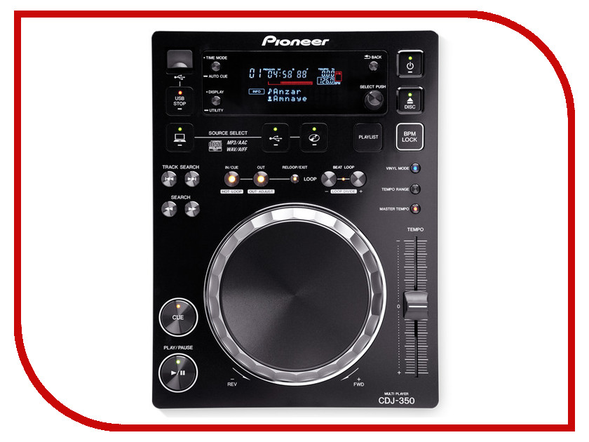 Фото CD-проигрыватель Pioneer CDJ-350-K Black. Купить в РФ