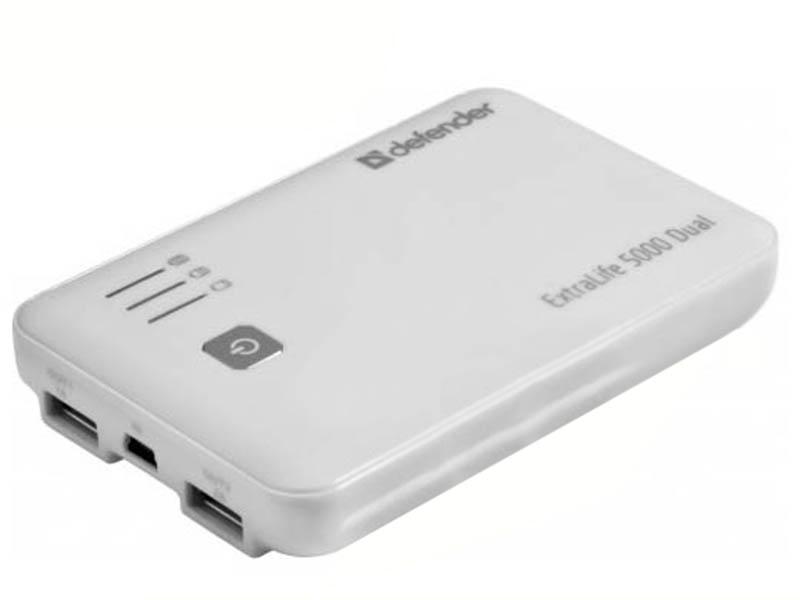 Аккумулятор Defender ExtraLife 5000 Dual 5000 mAh 83601