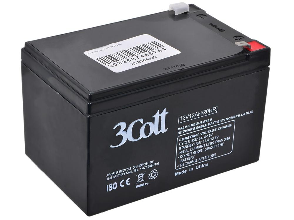 Аккумулятор для ИБП 3Cott 12V 12Ah аккумулятор для ибп 3cott 12v 4 5ah 5 star series 3c 1245 5s