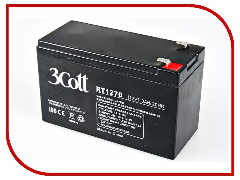 Аккумулятор для ИБП 3Cott 12V 7Ah<br>
