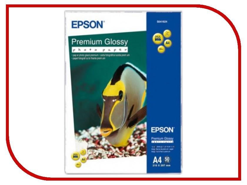 Фотобумага Epson Premium C13S041624 Глянцевая 255g/m2 A4 50 листов бумага для принтера epson a4 premium glossy photo paper 50 sheets