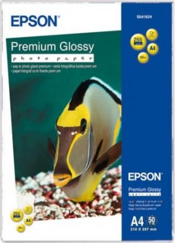 Фотобумага Epson Premium C13S041624 Глянцевая 255g/m2 A4 50 листов фотобумага epson c13s042535 photo paper glossy a3 200g m2 20 листов