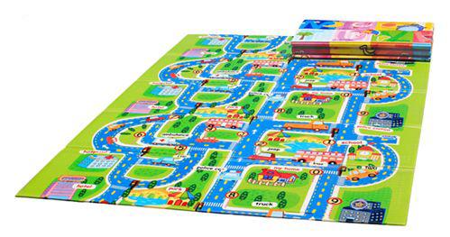 Развивающий коврик Mambobaby Город-книжка 71101<br>