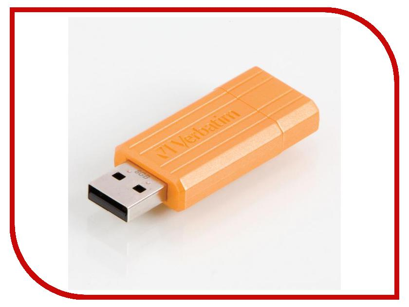 USB Flash Drive 8Gb - Verbatim Store n Go PinStripe Orange 47389