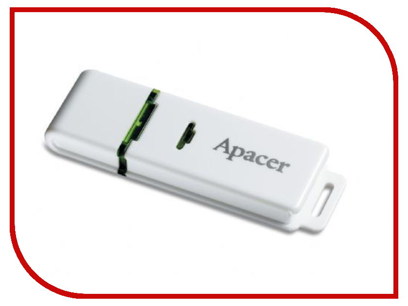 USB Flash Drive 8Gb - Apacer Handy Steno AH223 White AP8GAH223W-1