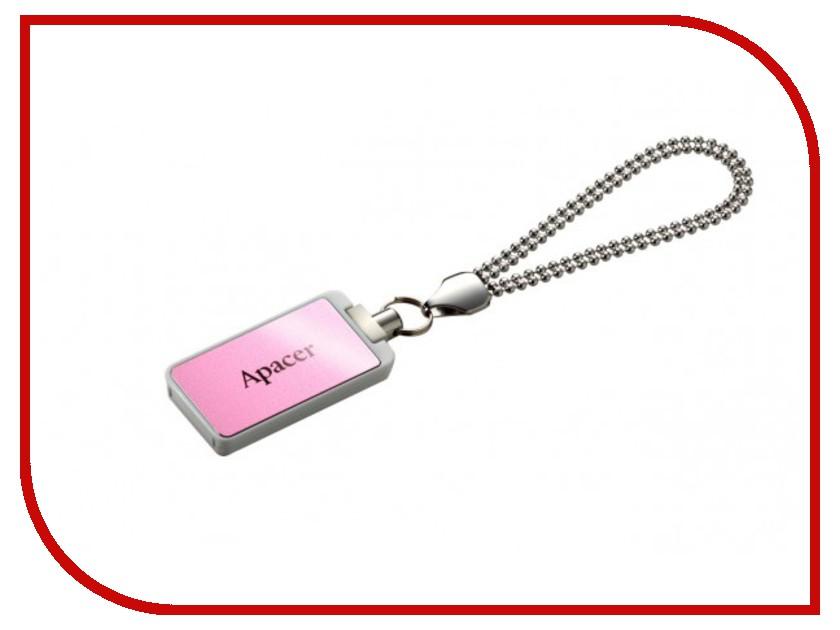 USB Flash Drive 16Gb - Apacer Handy Steno AH129 Pink AP16GAH129P-1<br>