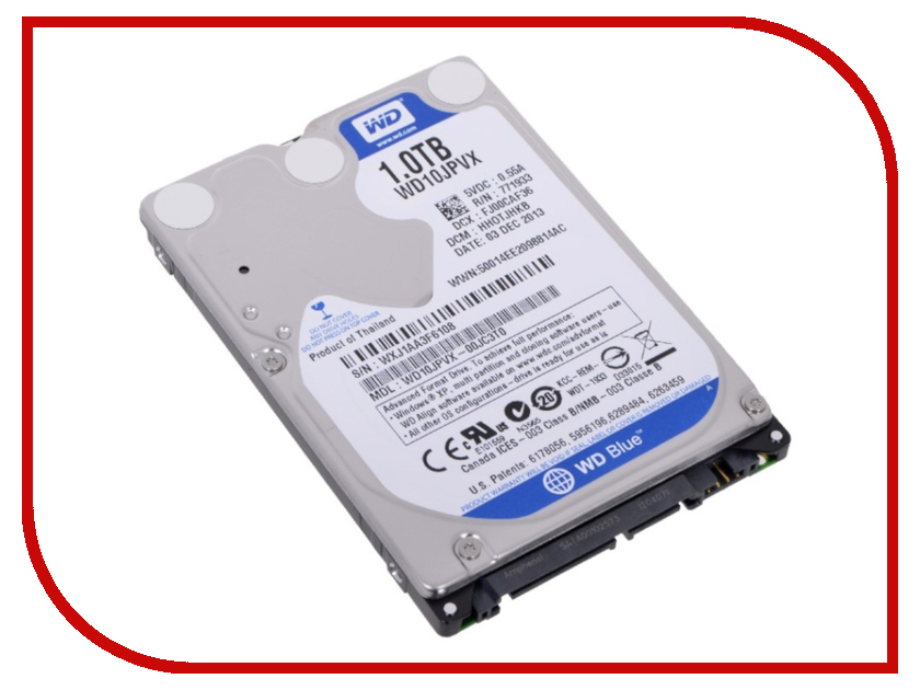 Жесткий диск 1Tb - Western Digital Blue WD10JPVX<br>