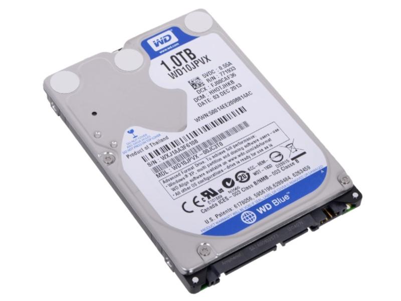 Жесткий диск 1Tb - Western Digital Blue WD10JPVX жесткий диск hdd 500гб western digital blue wd5000azrz