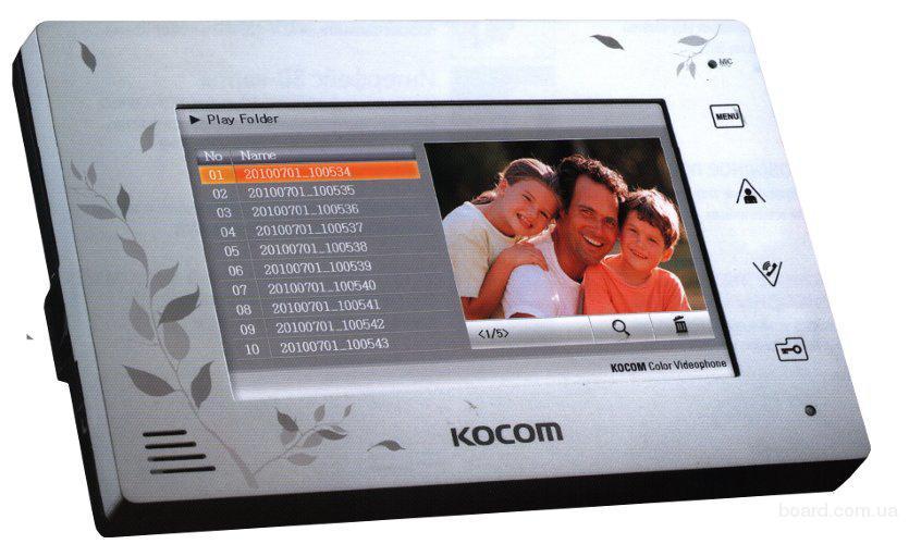 Видеодомофон Kocom KCV-A374SD White цена