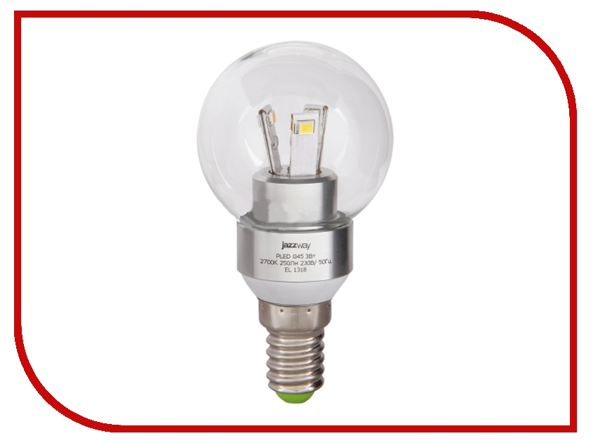 Лампочка Jazzway PLED-G45 3w 250 Lm E14 Clear (2700K)<br>