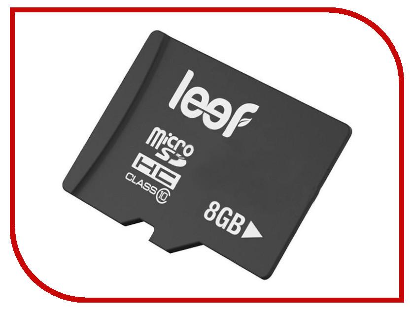 Карта памяти 8Gb - Leef - Micro Secure Digital HC Class 10 LFMSD-00810R карта памяти leef microsdhc class 10 8gb