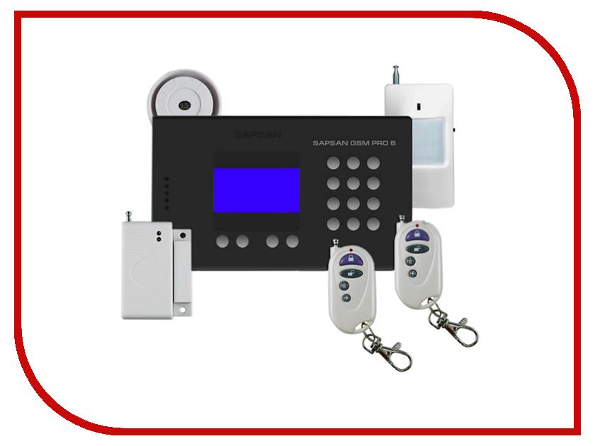 Сигнализация Sapsan GSM Pro 6 с датчиками 00006547 каркам страж т 300 gsm сигнализация