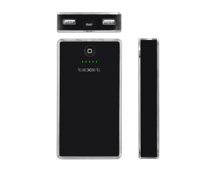 Аккумулятор teXet PowerPack TPB-2110 10000 mAh Black