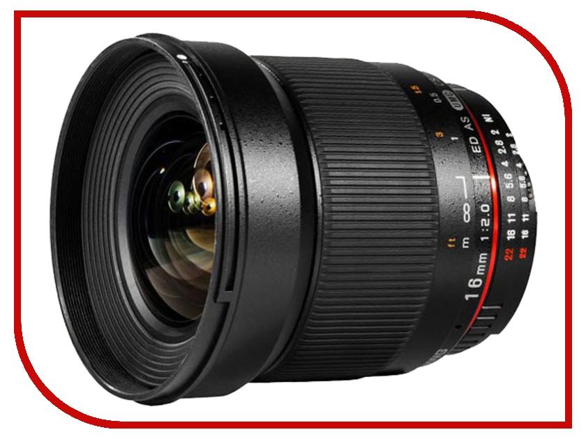Объектив Samyang Sony / Minolta 16 mm F/2.0 ED AS UMS CS