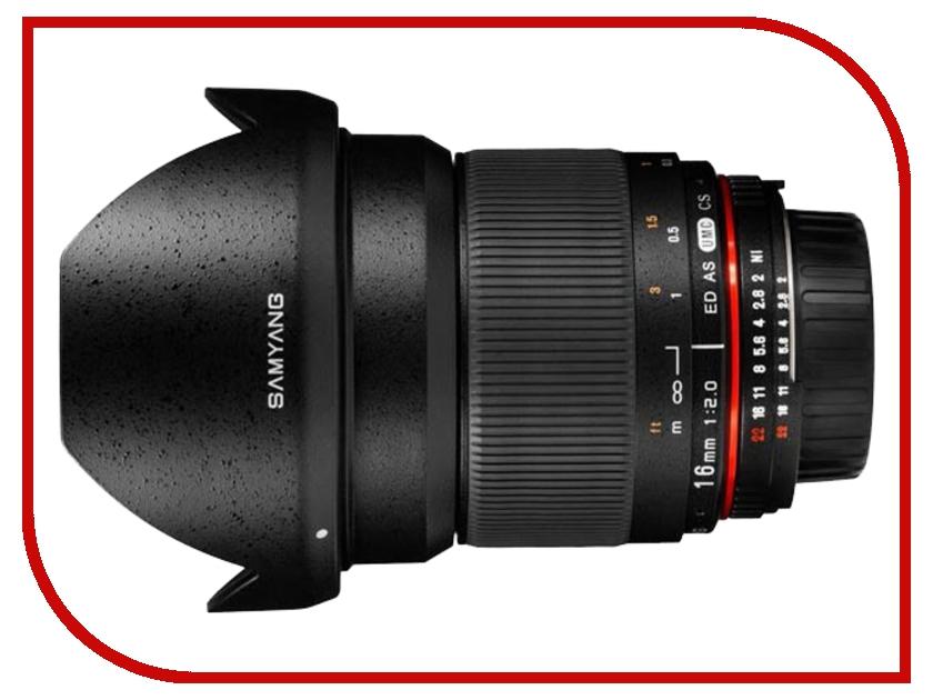 Объектив Samyang AE Nikon MF 16 mm F/2.0 ED AS UMS CS<br>