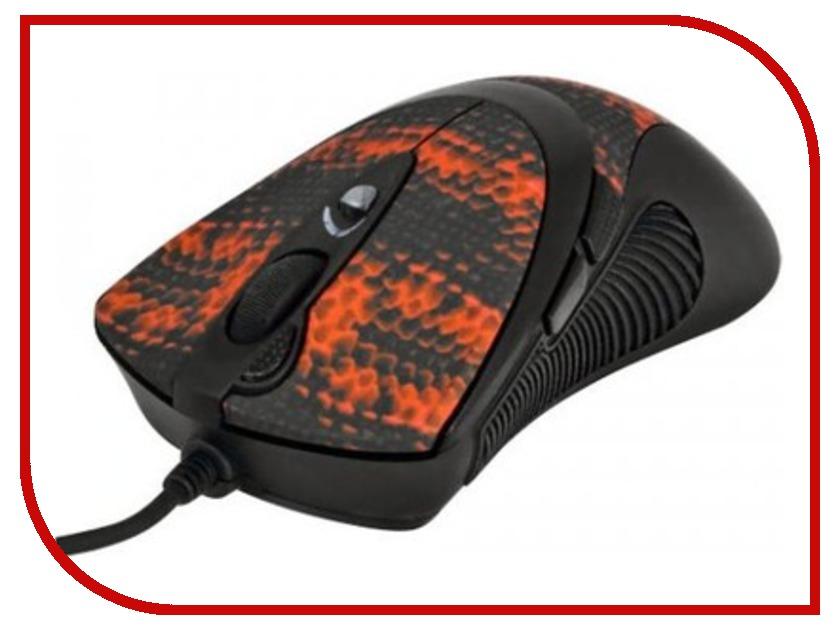 Мышь A4Tech F7 Snake Coating Black/Red