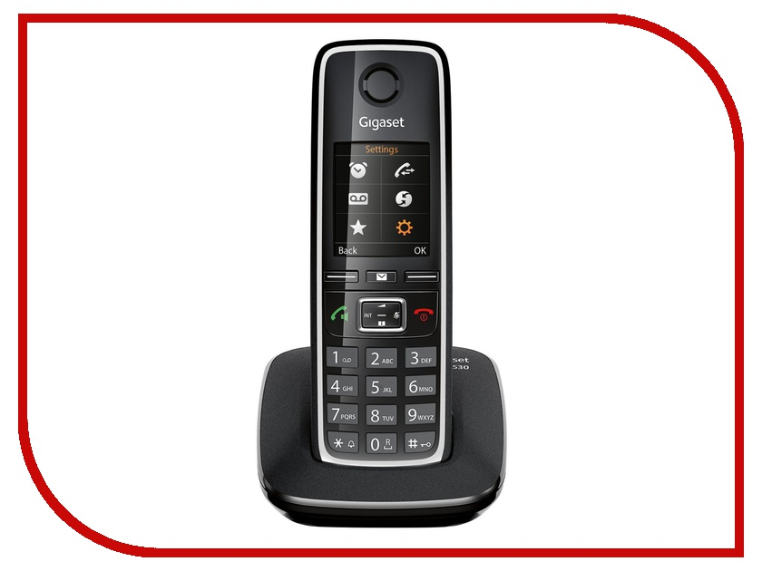 Радиотелефон Gigaset C530 Black радиотелефон siemens gigaset c530
