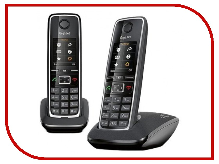 Радиотелефон Gigaset C530 DUO Black телефон gigaset c530