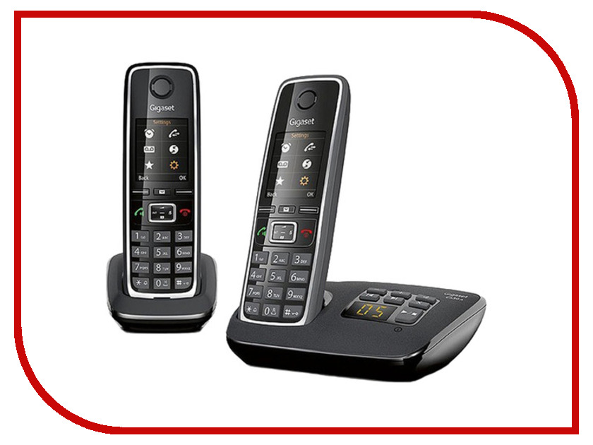 DECT телефоны C530AM  Радиотелефон Gigaset C530A DUO / C530AM DUO Black