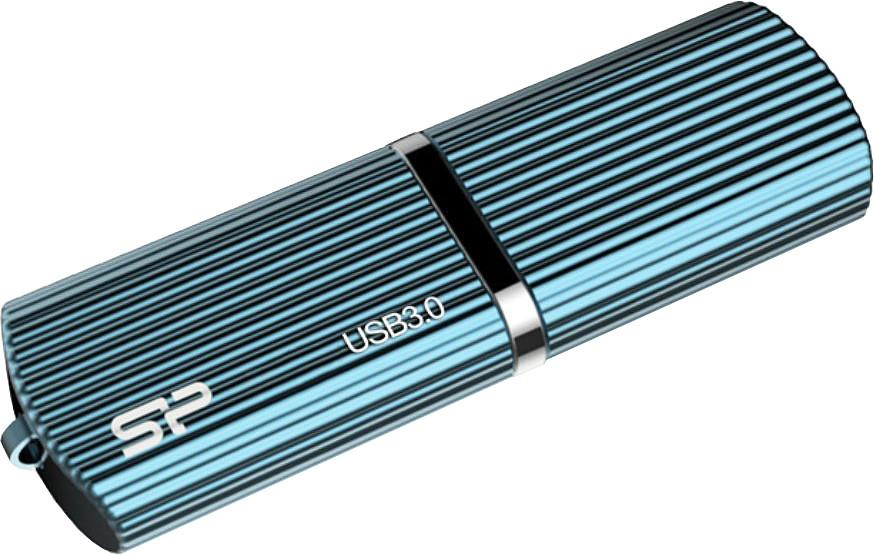 Фото - USB Flash Drive 16Gb - Silicon Power Marvel M50 USB 3.0 Blue SP016GBUF3M50V1B флешка silicon power marvel m50 16gb шампанское