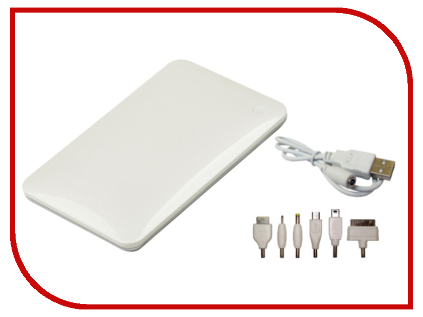Аккумулятор Celly Power Bank 8000mAh 2.1A White PB8000WH