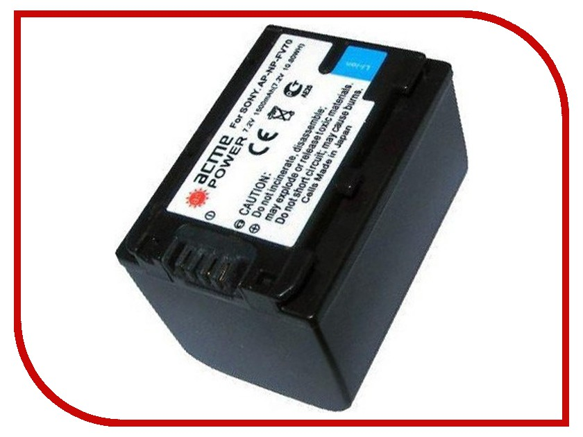 Аккумулятор AcmePower AP FV-70 аккумулятор acmepower ap np fv100