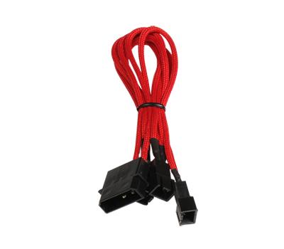 Аксессуар BitFenix Molex to 3x3-pin 12V 20cm Red-Black - для вентиляторов