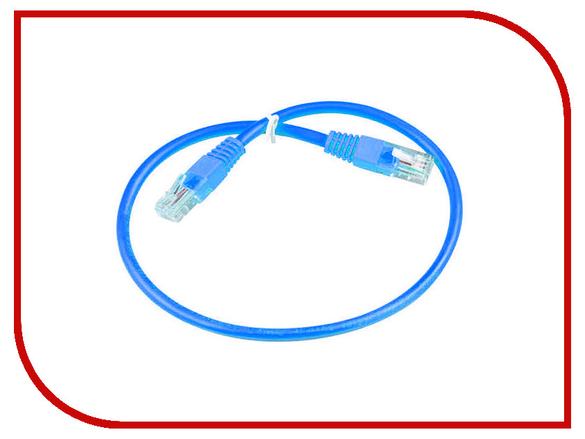 Сетевой кабель ExeGate UTP cat.5e 0.5m Blue аксессуар aopen utp cat 5e anp511 5m blue